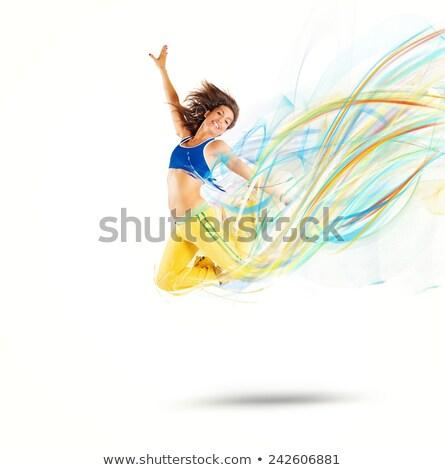 vrouw · gymnasium · water · meisje · glimlach · sport - stockfoto © photography33