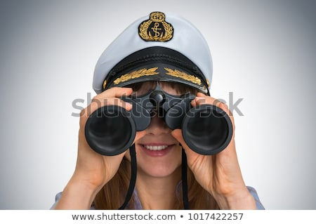 Portrait of the girl - captain with telescope Stock photo © pzaxe