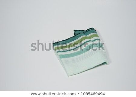 Blue and green handkerchief isolated on white Stock photo © shutswis