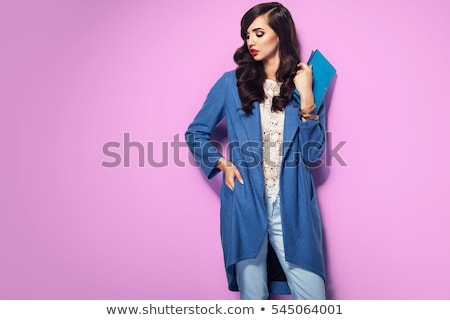 Fashion model beauty female in stylish dress Stock photo © gromovataya