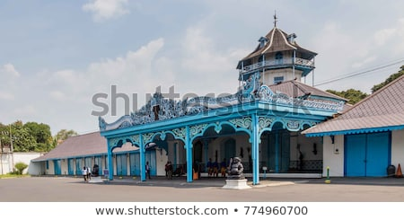 entrance to palace in solo indonesia Stock photo © travelphotography