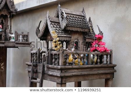 Espírito casas Tailândia edifício viajar asiático Foto stock © travelphotography