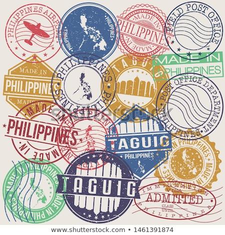 E-mail Filipinas imagem carimbo mapa bandeira Foto stock © perysty