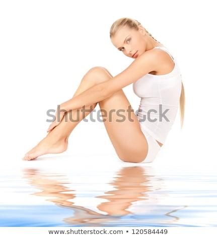 seducción · arena · blanca · Foto - foto stock © dolgachov