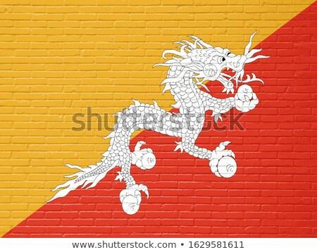 Bandeira Butão parede de tijolos pintado grunge textura Foto stock © creisinger