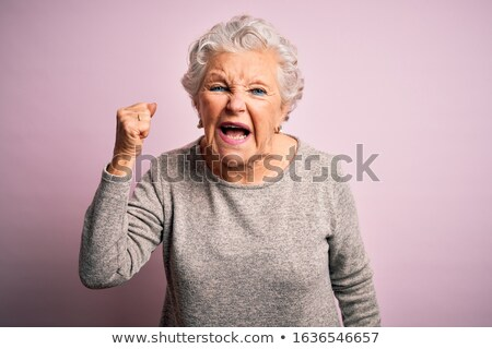 Angry old woman Stock photo © photography33