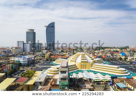 psar thmei central market in phnom penh cambodia Stock photo © travelphotography