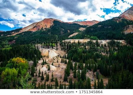 Stockfoto: Colorado · vallei · snelweg · boom · bos · landschap