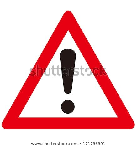 út figyelmeztető jel citromsárga kék ég rendőrség lámpa Stock fotó © grasycho