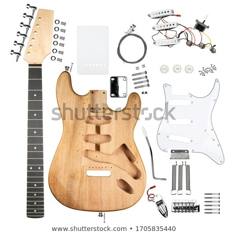 Constructing a guitar stock photo © oliverjw