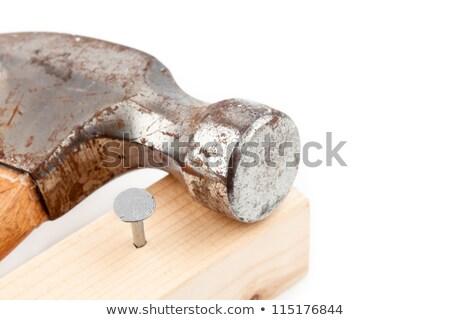 Chiodo martello costruzione lavoro metal Foto d'archivio © wavebreak_media