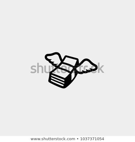 Vector icon geld vleugels business Stockfoto © zzve