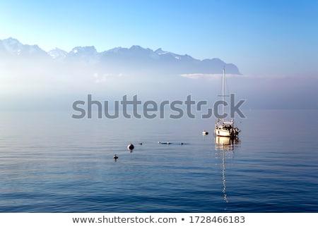 Foto stock: Ver · lago · Suíça · água · fonte