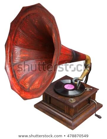 klasszikus · gramofon · lemezjátszó · virágmintás · dísz · gyönyörű - stock fotó © clearviewstock