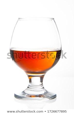 ガラス ブランデー 白 背景 花束 液体 ストックフォト © Zerbor