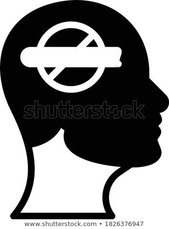никотин зависимость метафора ногти дым сигарету Сток-фото © lunamarina