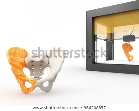 青 · リブ · コンピュータ · 生成された · 対称の · 黒 - ストックフォト © 4designersart