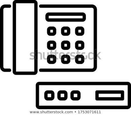 Voip pulsante moderno computer tastiera Foto d'archivio © tashatuvango