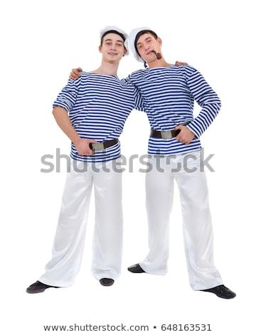hagyományos · öltözék · szamba · mosolyog · férfi · táncos · pózol - stock fotó © stepstock