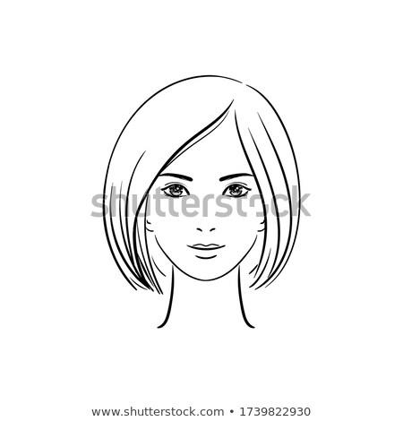 divat · szépség · portré · nő · fehér · rövid · haj - stock fotó © Victoria_Andreas