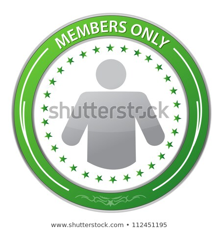 Members Only Circle Stamp illustration design over white Stock photo © alexmillos