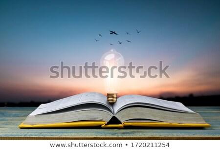 Irodalom közelkép elektomos írógép citromsárga papír Stock fotó © cosma