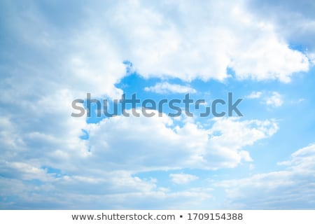 Sky with clouds in windy summer day Stock photo © BSANI