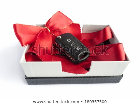 Black car key in a present box Stock photo © maxmitzu