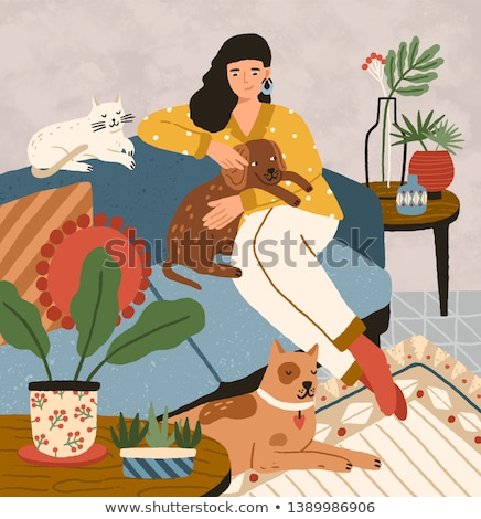 Dog characters color vector illustration Stock photo © janhyrman