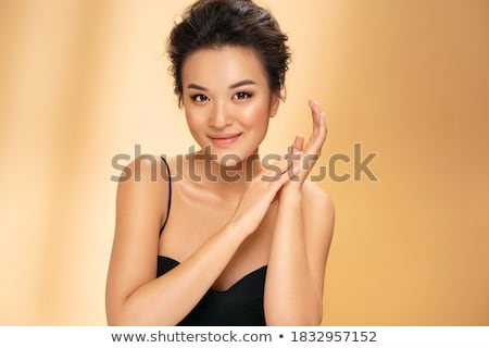 Fotoğraf güzel esmer kadın seksi rahatlatıcı Stok fotoğraf © oleanderstudio