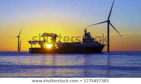 Bella nave equipaggio ragazza felice tramonto Foto d'archivio © Nejron