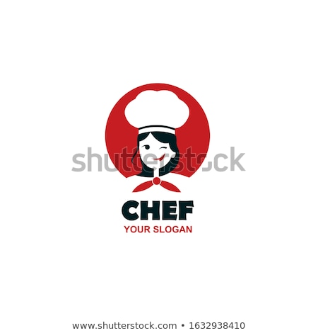 Pani gotować piękna dziewczyna wskazując banner Zdjęcia stock © kovacevic