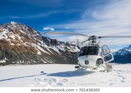 Helikopter gletsjer landing springen leven Stockfoto © bobkeenan