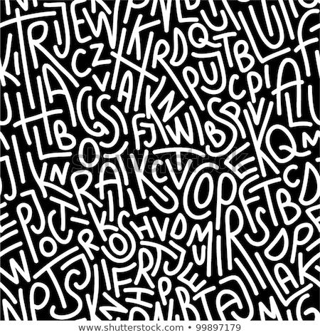 ziel · stencil · brieven · grunge · zwarte · brief - stockfoto © kali