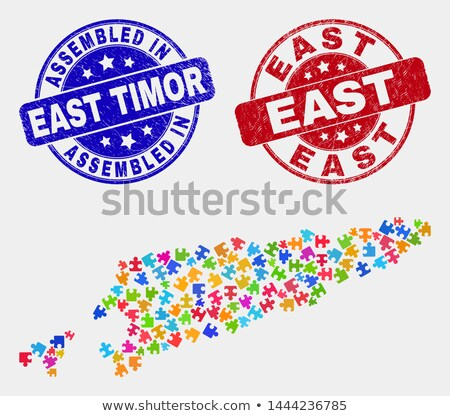 Made in East Timor on Red Stamp. Stock photo © tashatuvango