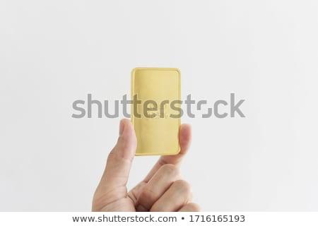 Gold bar in hand Stock photo © FrameAngel