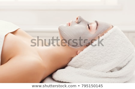 красивая · девушка · женщину · маске · ванную · природы · косметики - Сток-фото © lordalea