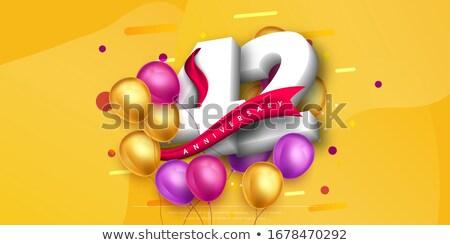 twee · Rood · ballonnen · vorm · hart · zonsondergang - stockfoto © zerbor