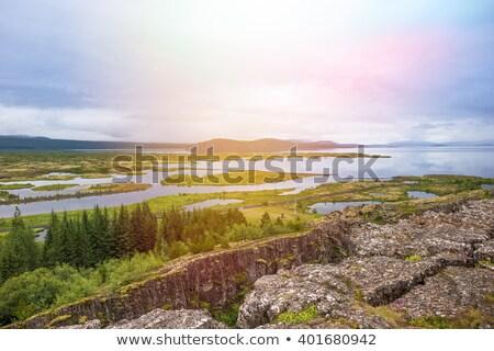 Islande vue montagne été Photo stock © 1Tomm