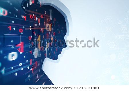 Hand pressing matrix touchscreen Stock photo © stevanovicigor