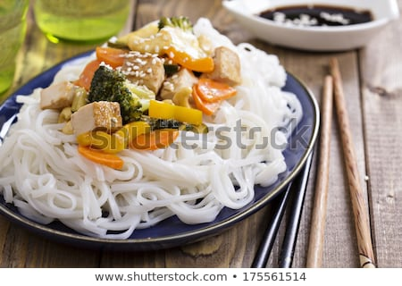 tofu broccoli and rice stock photo © m-studio