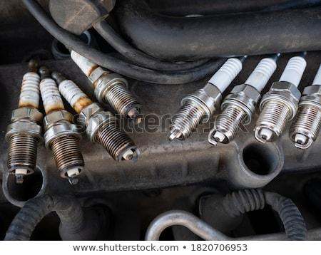 szikra · gyújtás · gázolaj · gép · sérült · papír - stock fotó © papa1266
