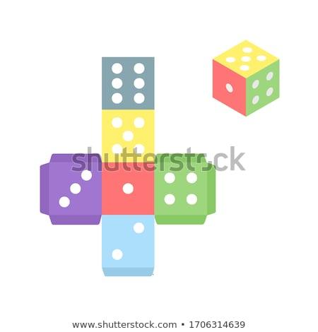 dadi · diverso · colori · caduta · gruppo · casino - foto d'archivio © Jumbo2010