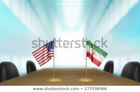 USA and Iran - Miniature Flags. Stock photo © tashatuvango