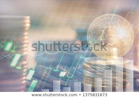 Background of golden coins Stock photo © olandsfokus
