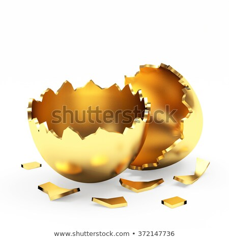 Sign with fractured egg Stock photo © Ustofre9