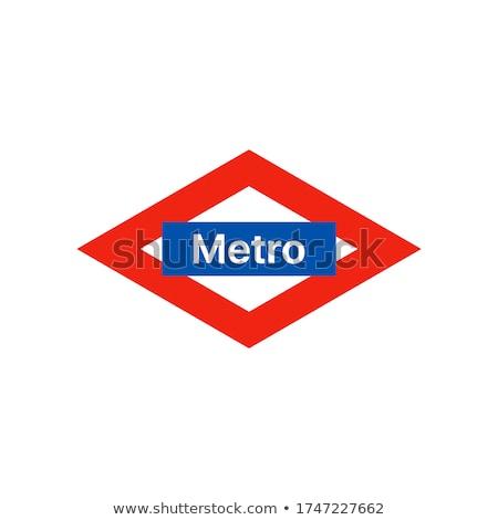 Metro imzalamak istasyon Paris şehir sanat Stok fotoğraf © smartin69