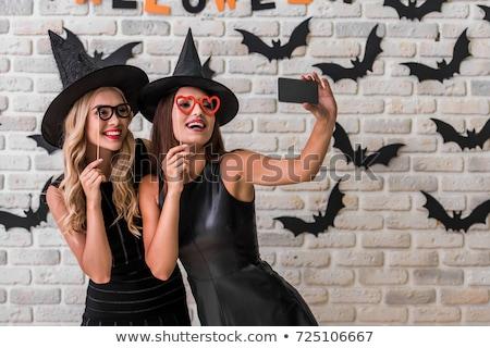dois · belo · mulheres · carnaval · sensual - foto stock © acidgrey