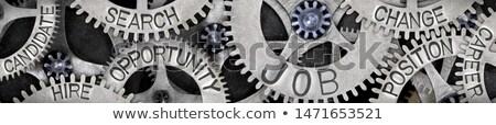 metaal · carriere · tekst · geïsoleerd · witte · teken - stockfoto © bosphorus