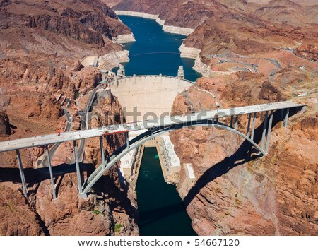 Aerial view of Hoover dam Stock photo © AndreyKr